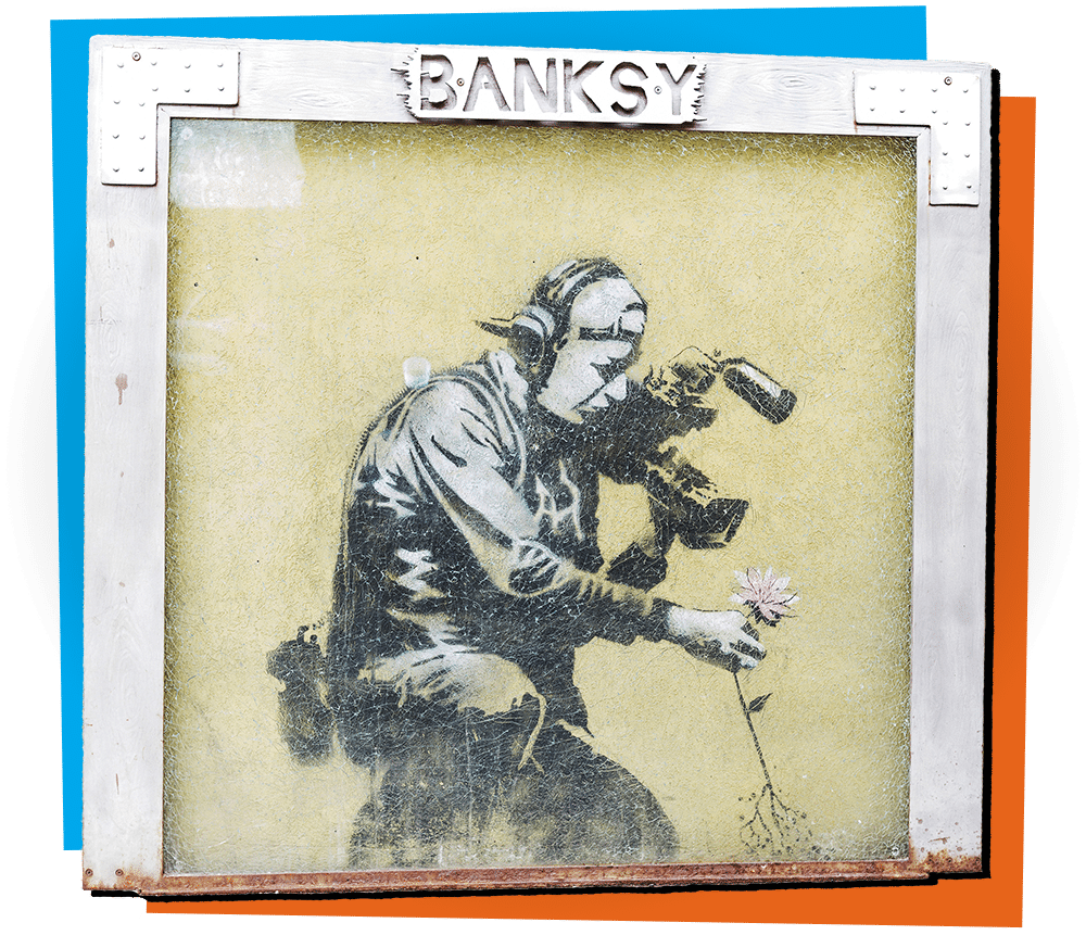 The-acclaimed-Banksy-street-art-on-the-South-side-of-the-building